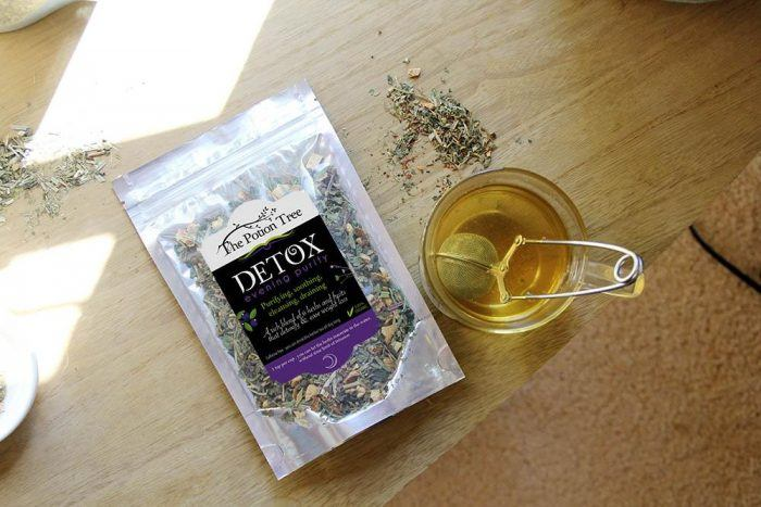 The potion tree botanical detox tea loose weight organic nz australia plants nettle green tea rosehip skin purity blueberry yerba mate