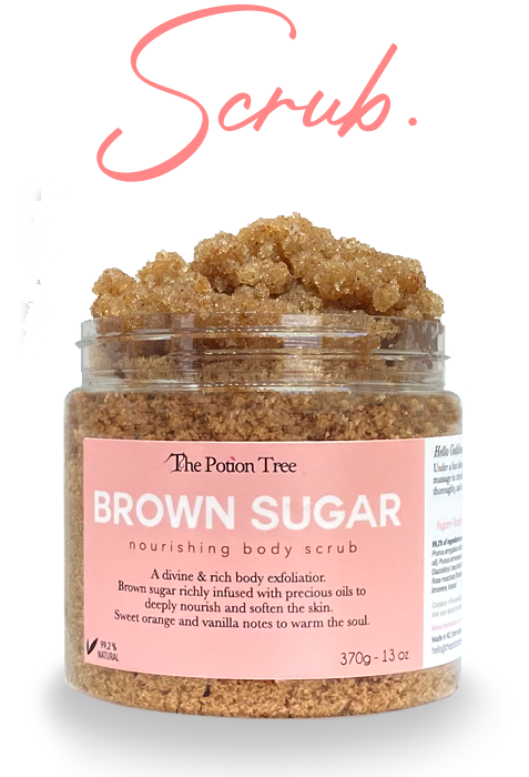 exfoliation scrub your body with sugar brown nz