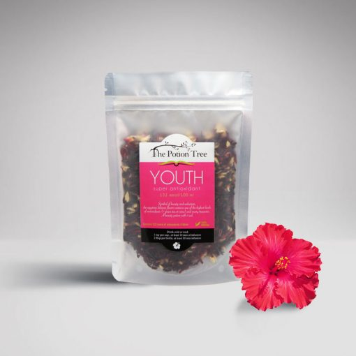 youth super antioxidant tea hibiscus ginger low blood pressure natural iced tea nz the potion tree