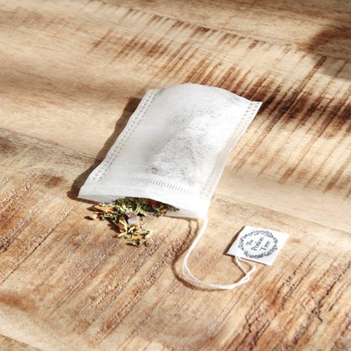 50 empty tea bags – corn starch – biodegradable, compostable