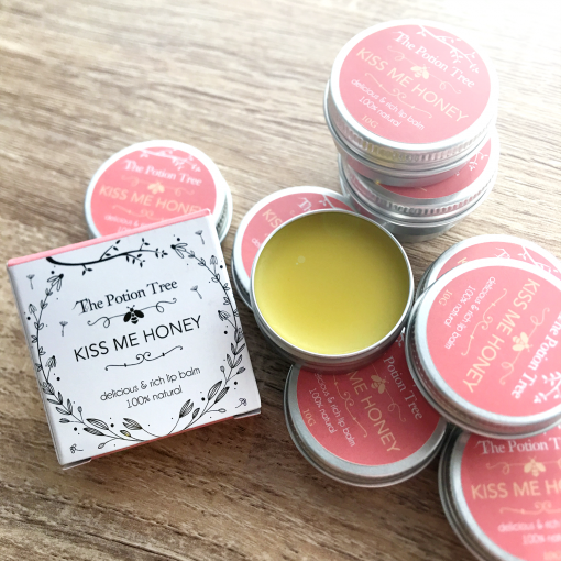 Kiss me honey lip balm rich with 30% nz new zealand honey made in nz organic natural cosmetic cruelty free