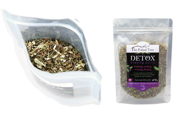 Detox tea evening organic natural ingredients titles nz