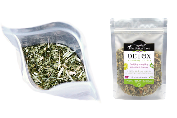 Detox tea morning organic natural ingredients titles nz