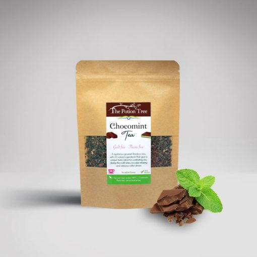 chocomint tea nz chocolat mint peppermint cacao rooibos chai organic caffeine free potion tree after eight