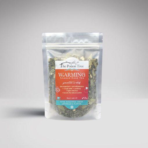 warming tea cold thyme eucalyptus plantain ginger flu antiviral herbal tea nz